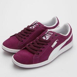 Puma Supersuede Eco Fashion Sneaker Purple/White 8